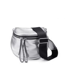 REALER crossbody bags for women silver shoulder bag soft artificial leather messenger bag ladies metallic effect small