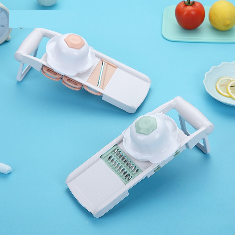 WORTHBUY Mandoline Vegetable Cutter With 5 Stainless Steel Blade Vegetable Slicer Potato Carrot Grater Kitchen Accessories