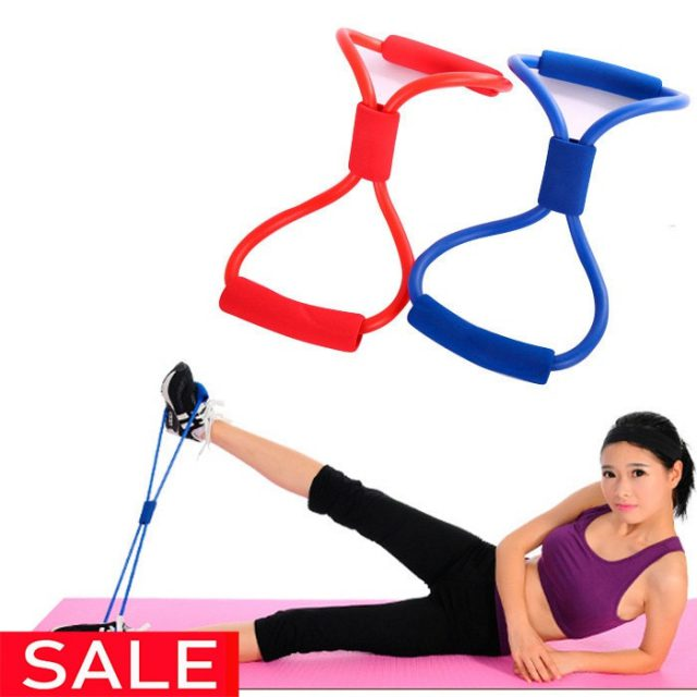 8 Word Fitness Chest Developer Resistance Loop Bands Crossfit Yoga Equipment Palites Training Pull Rope Tube