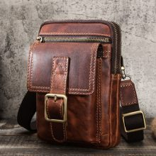 CONTACT'S 100% Vegetable Cow Leather Men Crossbody Bag Vintage Shoulder Bag for Male Multifunctional Phone Bags Quality Bolsa