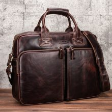 CONTACT'S Men Briefcase Genuine Leather Laptop Bag Business Tote for Document Office Portable Male Shoulder Bags Quality Maleta