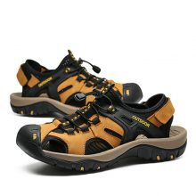 DEKABR New Summer Men's Shoes Outdoor Casual Shoes Sandals Genuine Leather Non-slip Sneakers Hihg Quality Men Beach Sandals