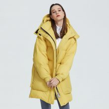 MIEGOFCE 2019 New Design Winter Coat Womens Parka Insulated Loose Cut With Patch Pockets Casual Loose Jacket Stand Collar Hooded