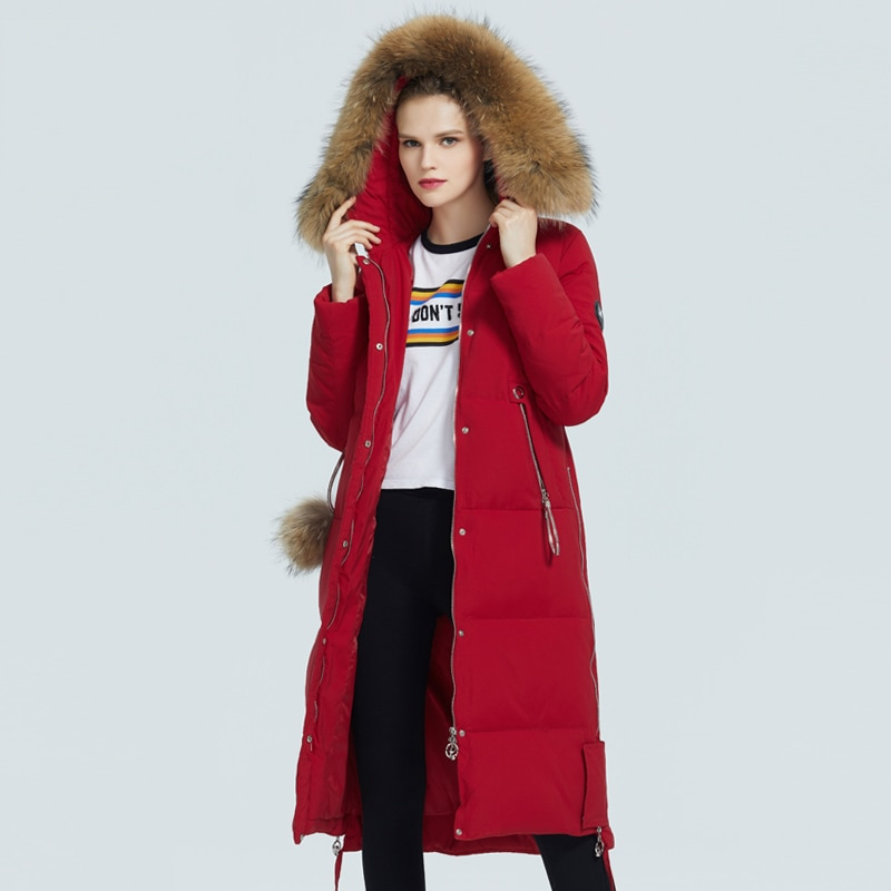 ICEbear 2020  winter women's coat  woman  jacket with fur collar windproof and warm parka fashion women's clothing GWD20263D