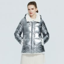 ICEbear 2020 autumn and winter new jacket women's winter fashion windproof and warm cotton coat brand female clothing GWD20283I