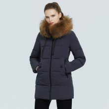 icebear 2020 brand women's clothing new products winter warm  ladies cotton jacket with fur collar women's parkas  GWD20172I