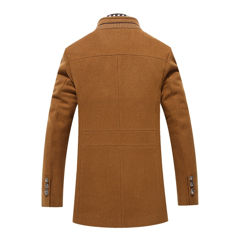 Mountainskin New Men Woolen Coat Winter Fleece Warm Jackets Thermal Slim Fit  Fashion Trench Outerwear Mens Brand Clothing SA704