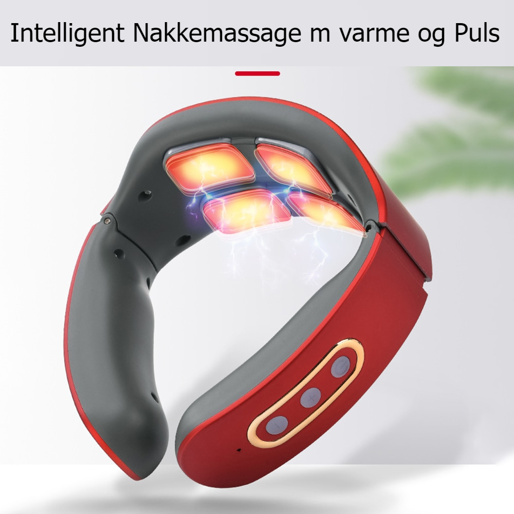 Electric Pulse Heat Neck Massager Far Infrared Heating Relaxing Health Care Relaxation Tool Intelligent Cervical Pain Relief Ma