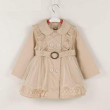 Bear Leader Girls Autumn Outerwear 2020 New Fashion Kids Girl Ruffles Coats Sashes Casual Outfits Children Clothing 3-11 Years